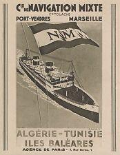 Z8454 Compagnie de Navigation Mixte - Pubblicità d'epoca - 1935 Old advertising
