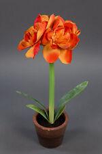 Amaryllispflanze 38cm orange AD Kunstpflanzen künstliche Amaryllis Blumen