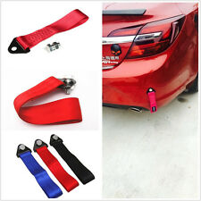 Red High Strength Cars Heavy Duty Emergency Tow Strap Towing Rope Hook With Bolt