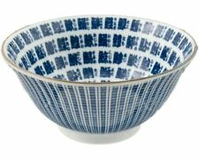 "Japanese 6""D Porcelain Sushi Fish Kanji Characters Rice Soup Bowl, Made in Japan"