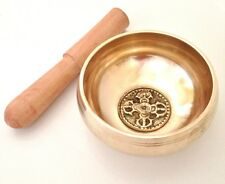 TIBETAN BUDDHISM HAND MADE BRASS CHAKRA SINGING BOWL MEDITATION HEALING REIKI