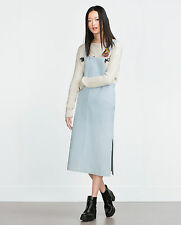 BLOGGERS FAV!!! ZARA LIGHT BLUE MIDI DENIM DRESS SIZE XS