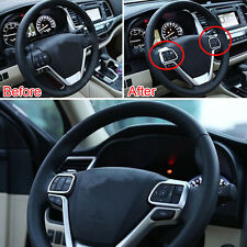 Chrome Steering Wheel Trim Cover 2pcs Decoration For Toyota Highlander 2015 -16