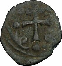 Jesus Christ Class H Anonymous Ancient 1071Ad Byzantine Follis Coin Cross i52372