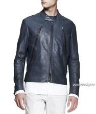MAISON MARTIN MARGIELA Zip Leather Jacket IT52- RRP1800GBP