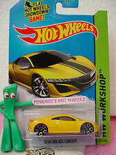 Case A 2015 Hot Wheels '12 ACURA NSX CONCEPT 2012 #191∞Yellow;TRAP5∞∞Speed Team