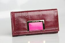 NEW $715 Jimmy Choo Remy Tourmaline Elaphe Remy Jazzberry Continental Wallet