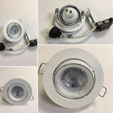 Nuevo 10 X GU10 Techo Luminaria Empotrado Downlight de red Redondo Blanco inclinado