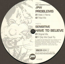 PAUL WEBSTER - Problems / Have To Believe Pres JPW / Sensitive - Digital Only