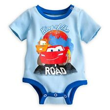 LIGHTNING MCQUEEN & TOW MATER DISNEY CUDDLY BODYSUIT BABY 3/6 MOS KING OF ROAD