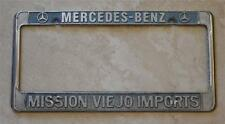 Mission Viejo Imports Mercedes Dealer Mission Viejo CA License Plate Frame 1956+