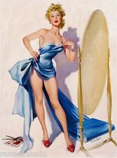 1940s Pin-Up Girl Use Your Imagination Picture Poster Print Art Pin Up