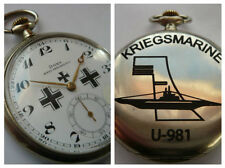 GERMAN WW2 NAVY OFFICERS 6th U-boat Flotilla U-981 KRIEGSMARINE-DOXA-Pocketwatch