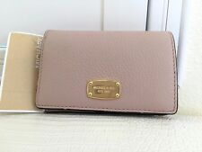 Authentic New MICHAEL KORS JET SET Leather Blush Pink Med Slim Wallet Travel