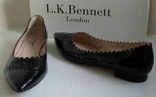 LK BENNETT Pointed Toe Ballerina Ballet Low Heel Shoes UK7 EU40 US9.5 RRP £195