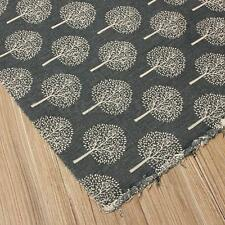 50x150cm Cotton Linen Fabric Remnant DIY Sew Craft Home Decor Pillow Grey Trees