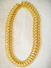 "NWOT 18"" TEXTURED ROPY LOOP GOLD TONE CHAIN NECKLACE, 3/4"" WIDE, SPARKLES!"