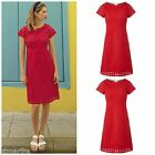 WHITE STUFF BRODERIE ANGLAISE PARADISE TEA DRESS SHIFT TUNIC RED SUMMER 8 -18