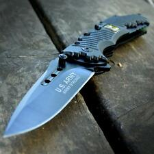 US ARMY LICENSED Rescue Tactical SPRING ASSISTED OPEN Folding Pocket KNIFE