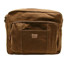 Troop London - Brown Classic Body/Messenger Bag in Canvas-Leather