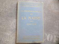 WWI 14 / 18 1914 1918 Guide Michelin La Marne Champs de bataille