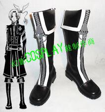 D Gray-Man Allen Walker Black Halloween Long Cosplay Shoes Boots H016