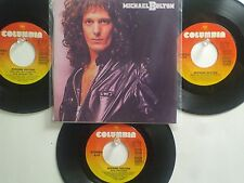 LOT OF 4 MICHAEL BOLTON HIT 45's+1P(Copy)[When A Man Loves A Woman]  80's&90's !