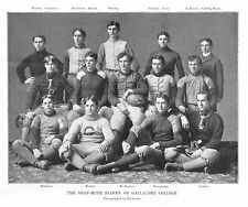 FOOTBALL THE DEAF MUTE ELEVEN OF GALLAUDET COLLEGE SPORTS HISTORY 1898 FOOTBALL