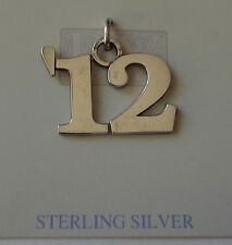 25% off Sterling Silver 17x22mm 12 for 2012 High School College Graduation Charm