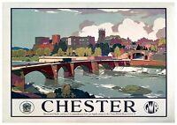 009 Vintage Railway Art Poster Chester   *FREE POSTERS