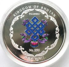 Bhutan 2013 Guanyin China 250 Ngultrums 1oz Silver Coin,Proof