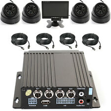 "4Ch Car Bus Mobile DVR SD Card + 4 IR Light Camera + 4 Cable + 7"" LCD Screen Kit"