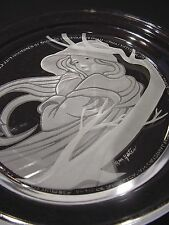 "Michael Yates Crystal Plate Country Ladies ""Angelica"" COA-Story-1st Iss. #21044"