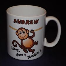 PERSONALISED FUNNY IDIOM MONKEY MUG GIFT BIRTHDAY CHRISTMAS FRIENDS PRESENT