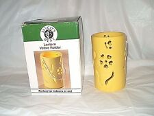 "5 3/4"" YELLOW INDOOR & OUTDOORS LANTERN VOTIVE HOLDER NEW IN BOX FREE SHIPPING"
