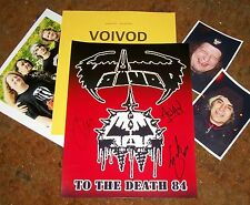 VOIVOD Autographed Photo Logo & Photos- REAL Collectible
