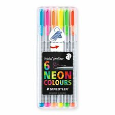 Staedtler Triplus Fineliner Neon Colour Marker Pen Pack Of 6 - Assorted