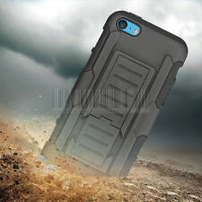 Rugged Heavy Duty Hybrid Shockproof Case Hard Cover Holster For Apple iPhone 5C