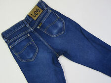 A-102 LADIES VINTAGE LEE AUSSIE MADE STRETCH SLIM TRUMPET DENIM JEANS SZ 7
