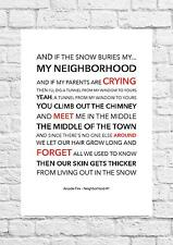 Arcade Fire - Neighbourhood #1 - Song Lyric Art Poster - A4 Size