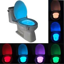 LED Toilet Bathroom Night Light Motion Activate On/Off Seat Sensor 8Color Lamp R