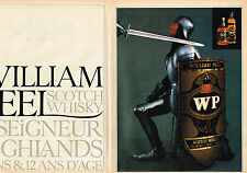 PUBLICITE ADVERTISING 114  1982  WILLIAM PEEL  scotch whisky  (2p)