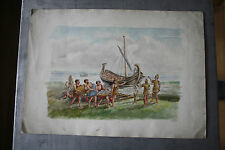 BROUGH HAVEN FERRY INN Original Early 20th Century WatercolouR KITSCH