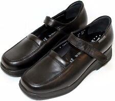 UK8/US10.5/EU42 Mephisto Samaya, Ladys Black Leather Shoes, Comfort Sole
