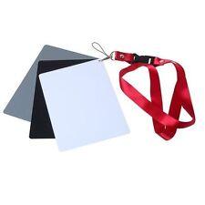 Mini 3-in-1 18% Neutral Gray Card + White/Black Card With Strap Precise Exposure