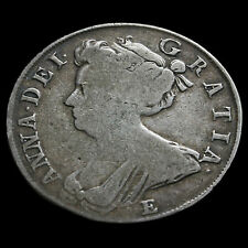 1708 Queen Anne Early Milled Silver Half Crown #2