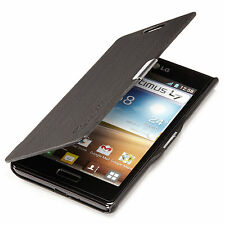 LG Optimus l7 p700 slim Flip Case Cover pochette Housse/étui de protection Noir