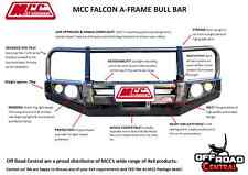 MCC 4X4 FALCON BULL BAR WITH FOGS LAND ROVER DISCOVERY 1990 - 2004  ADR & AIRBAG