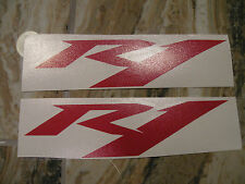 "#358 (2) 4"" Yamaha Logo Helmet Wheel Sticker Decal Vinyl Gloss RED R1"