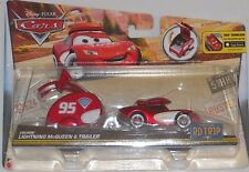 DISNEY PIXAR CARS 2016 ROAD TRIP CRUISIN LIGHTNING MCQUEEN & TRAILER VHTF